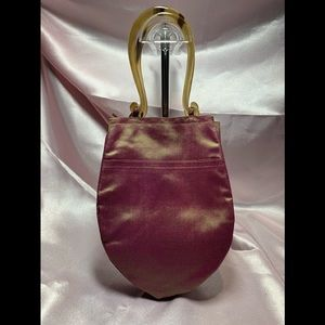 Iridescent Mini Bag with genuine Horn Handles